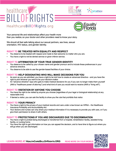image of the Healthcare Bill of Rights