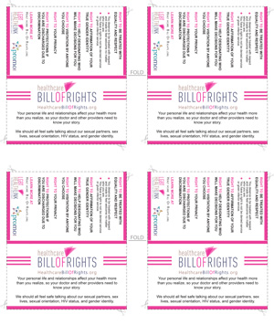 image of the wallet-sized Healthcare Bill of Rights